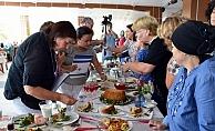 Biga'da oya ve yemek yarışması