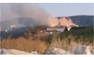 Çanakkale Yarı Açık Ceza evinde yangın GÖRÜNTÜLÜ