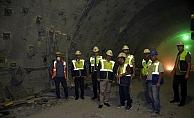 Vali Tavlı tünel çalışmalarını inceledi