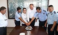 Zabıta Haftası'nda pastalı kutlama
