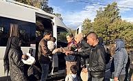 Ayvacık'ta 41 mülteci yakalandı