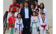 Başkan Arslan, Şampiyonları Ağırladı