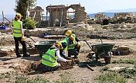 Bigalı Kalesi'nin restorasyonu devam ediyor