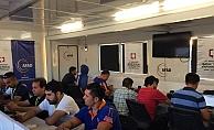 BYEGM, Reyhanlı'da mobil basın merkezi kurdu
