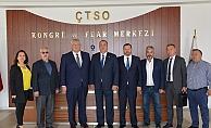 Ukrayna heyetinden ÇTSO'ya ziyaret