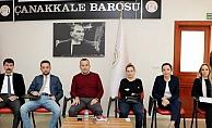 Baro yönetimi, stajyer avukatlar ile buluştu