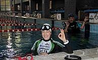 Tek nefeste bisikletle suyun altında en uzun mesafe gitme rekorunu kırmaya çalışacak