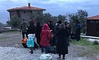 Ayvacık'ta 30 mülteci yakalandı