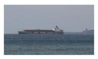 Hayvan yüklü gemi Çanakkale Boğazında yan yattı