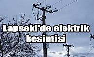 Lapseki'de elektrik kesintisi