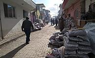Lapseki'de kömür yardımı