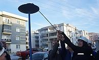 Lapseki'ye verilen ilk doğal gaz ateşlendi