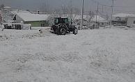 Yenice'de kar yağışı