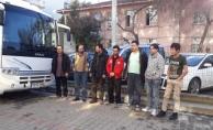 İskelede 32 kaçak yakalandı (VİDEO)