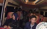 Ayvacık'ta 35 kaçak göçmen yakalandı