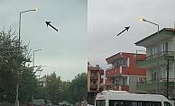 Barbaros Mahallesi'nde elektrik israfı