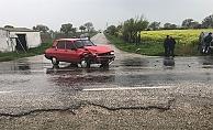 Bayramiç-Ezine yolunda kaza: 2 yaralı