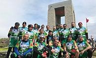 Bursalı bisikletçilerden 'Çanakkale' turu