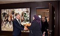 Çanlı kadınlardan Başkan Kuzu'ya ziyaret