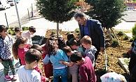 Öğrenciler fidanları toprakla buluşturdu