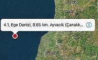 Ayvacık 4.1 deprem