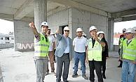Başkan Gökhan yeni binayı inceledi