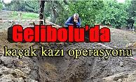 Gelibolu'da kaçak kazı operasyonu