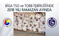 Biga TSO'dan Ramazan yardımı