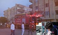 Yangında mahsur kalan bebeği vatandaşlar kurtardı