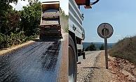 Çan'da asfalt çalışması