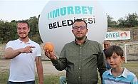 Umurbey'in en iyi şeftalisi uzaya gönderildi