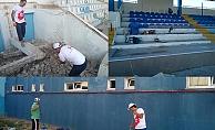 İlyas Bayram Stadı Bakımda