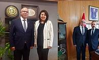 ÇTB Meclis Başkanı Deniz'in TBMM ziyaretleri