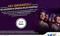 Üniversitelilerin sinema bileti 17 Burda AVM'den