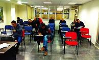 Adaylar sınava tabi tutuldu