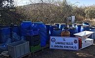 Eceabat'ta kaçak içki operasyonu