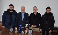 Şampiyonlardan Başkan Yılmaz'a ziyaret