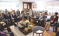 Başkan Gökhan'a ziyaretçi akını