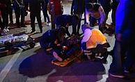 Trafik kazası: 2 yaralı (VİDEO)