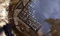 Kaçak kazıda zemin mozaiği bulundu (Video)