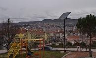 Çan'da park alanlarında güneş enerjisi kullanılıyor