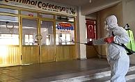 Çan Terminali dezenfekte edildi