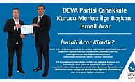 Deva Partisi Çanakkale Merkez ilçe başkanı Acar oldu !