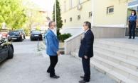 Turan, Kaymakam Gürdal'ı ziyaret etti