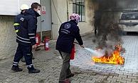 Biga'da yangın tatbikatı düzenlendi