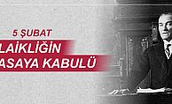 Başkan Gökhan'ın laiklik ilkesinin kabulünün yıldönümü mesajı