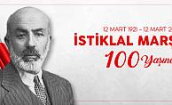 Başkan Gökhan'ın İstiklal Marşı'nın kabulünün yıl dönümü anma mesajı