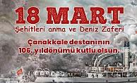 Gelibolu Belediye Başkanı Özacar Çanakkale Zaferi'nin 106.yıldönümü kutladı