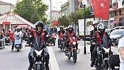 Çan'da motosikletli 19 Mayıs korteji