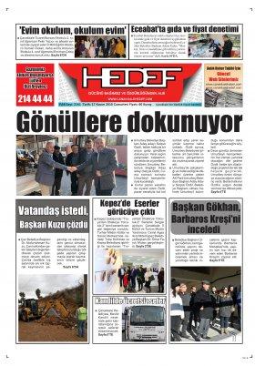 Çanakkale Hedef Gazetesi - 17.11.2018 Manşeti